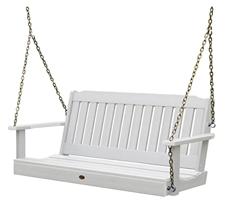 Great Highwood Lehigh Porch Swing 4 Feet, White