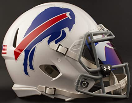 33ef1db0 Amazon.com : Riddell Buffalo Bills NFL Football Helmet with UA TILT ...