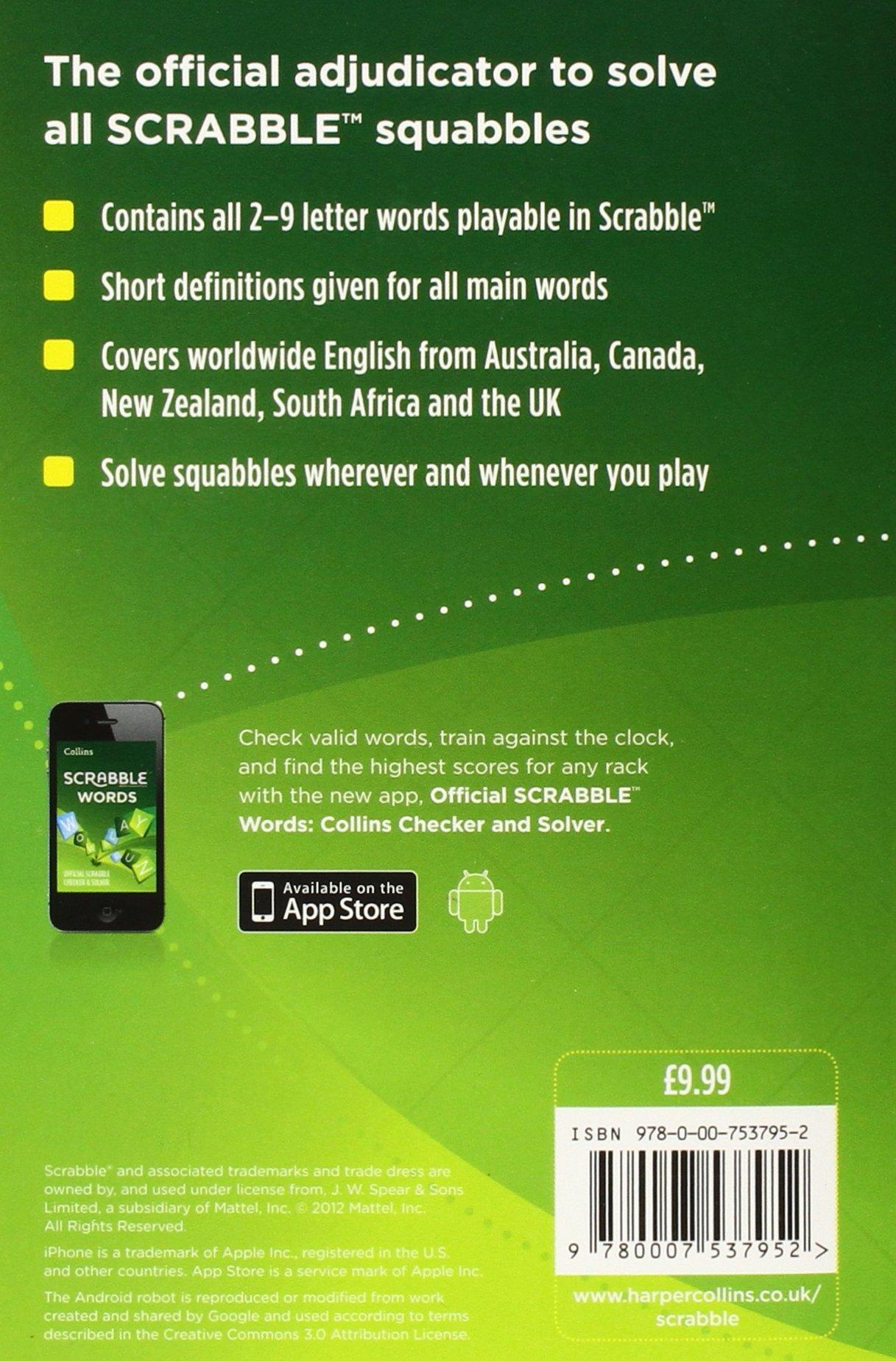 Collins Scrabble Dictionary: Amazon.es: Collins Dictionaries: Libros en idiomas extranjeros