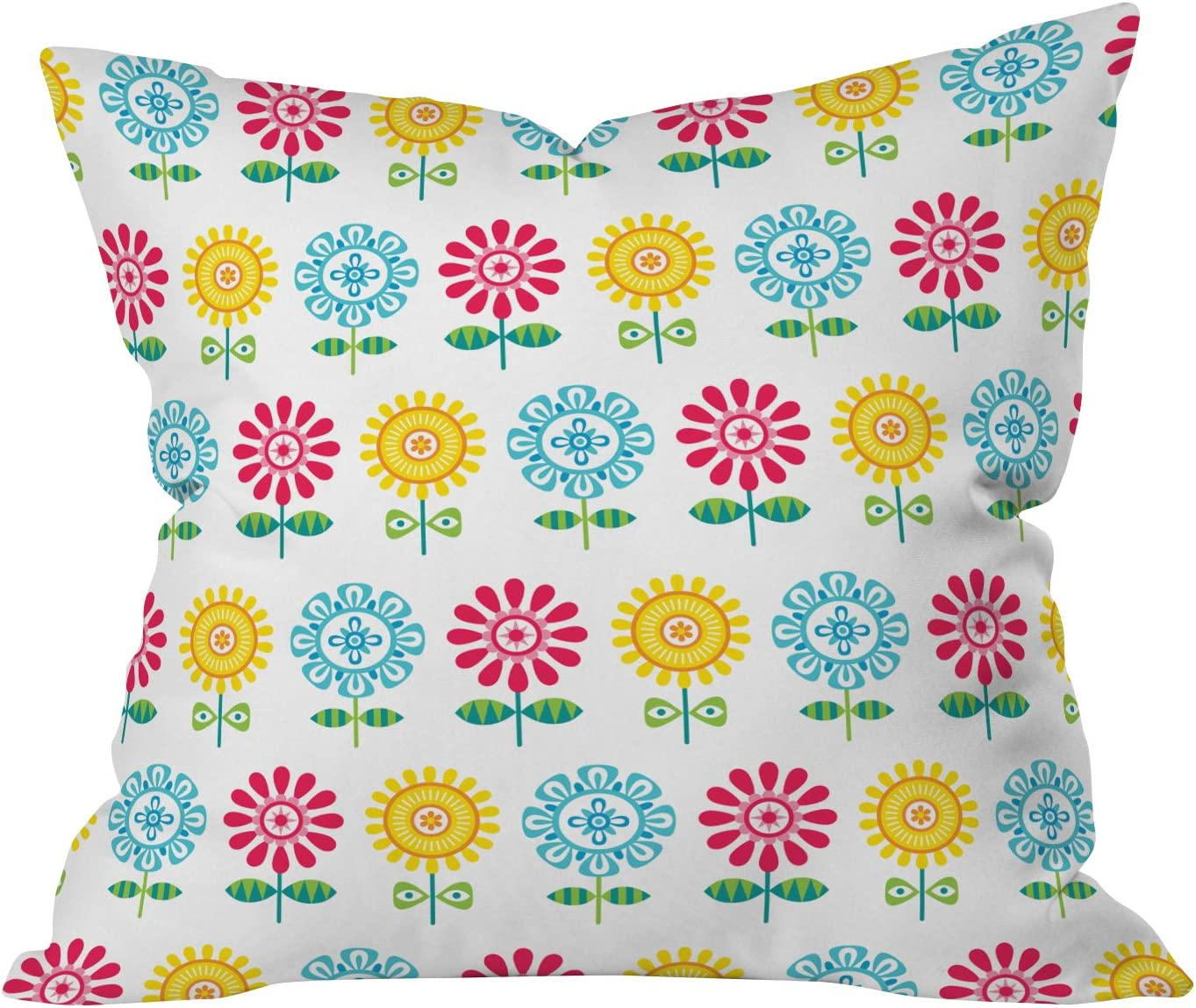Deny Designs Andi Bird Pt Reyes Flowers Throw Pillow, 26 x 26