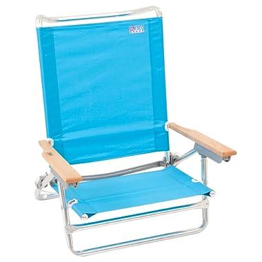 Rio Beach Classic 5 Position Lay Flat Folding Beach Chair