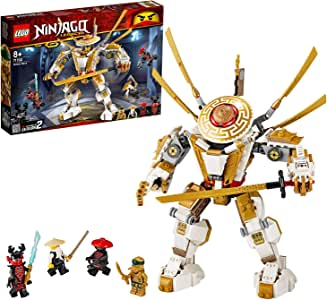 LEGO Ninjago 71702 Golden Mech Building Kit (489 Pieces)