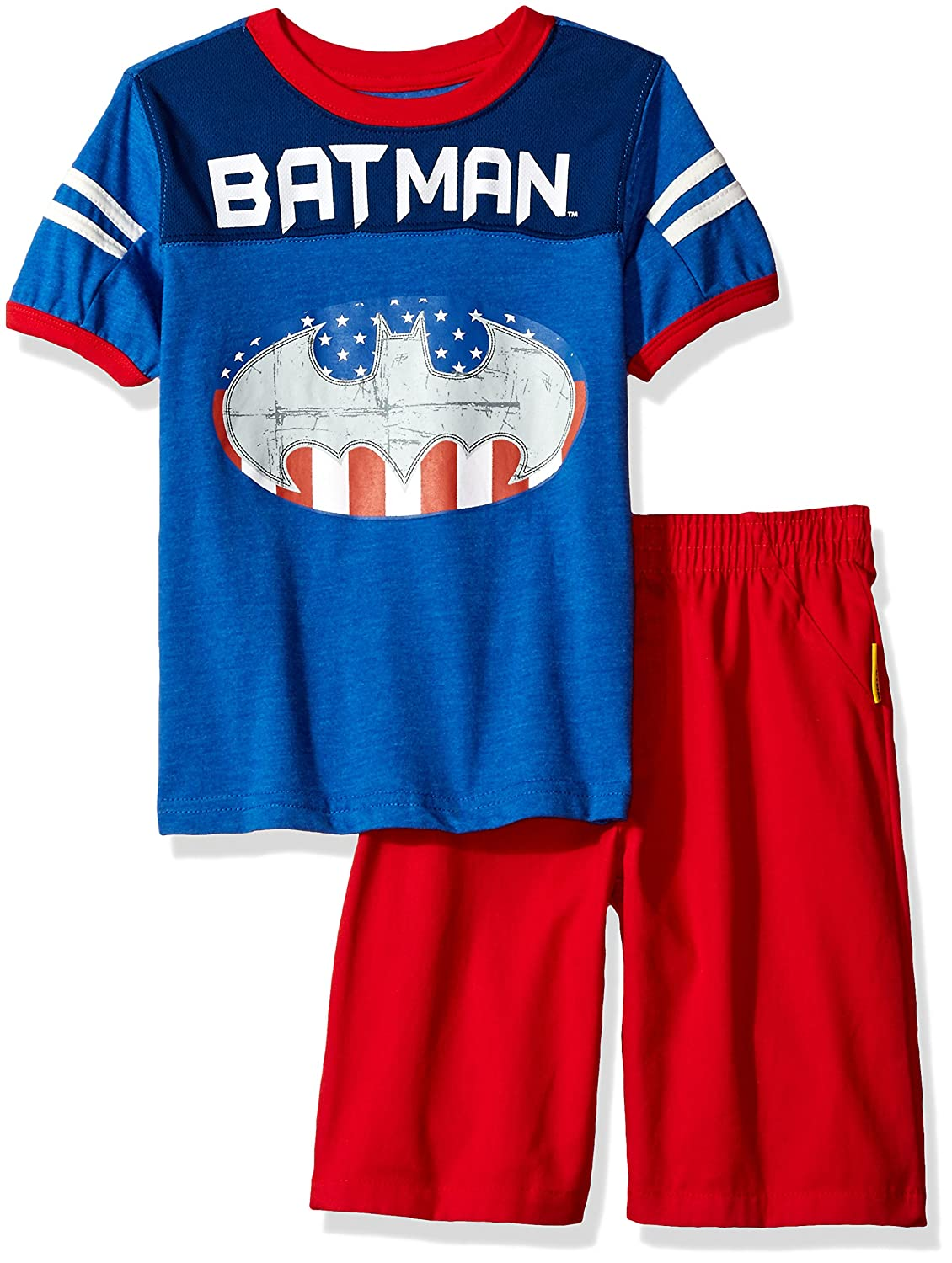 922f6282 Amazon.com: Warner Bros Boys' 2 Piece Batman Tee and Twill Short Set:  Clothing