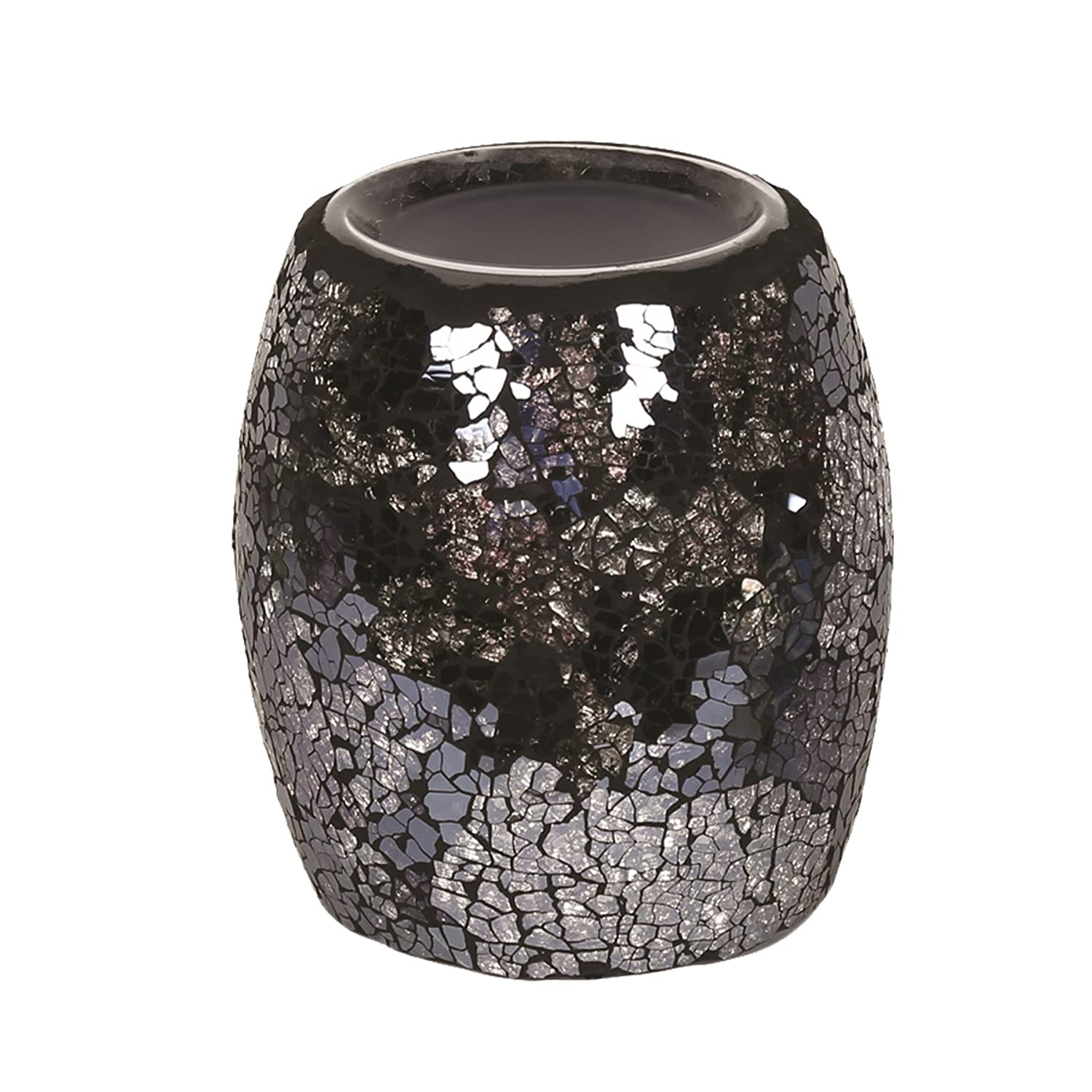 Astin of London - Aroma Accessories Electric Wax Tart Melt Burner Lamp Black & Silver Crackle Scented Fragrance Aroma Warmer - Hand Crafted
