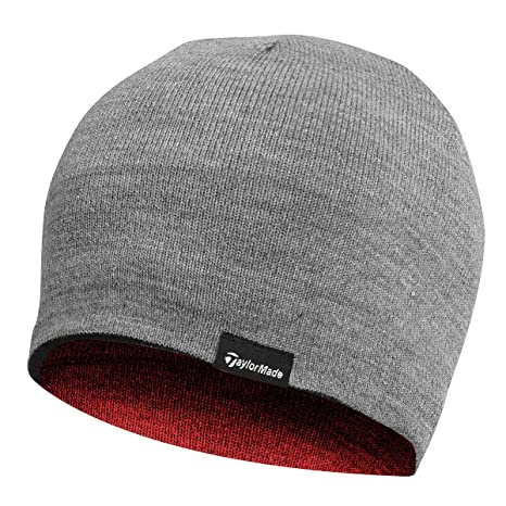 Amazon.com  2015 TaylorMade Reversible Thermal Golf Beanie Double Knitted  Mens Hat Navy  Sports   Outdoors d0aa8defd03f