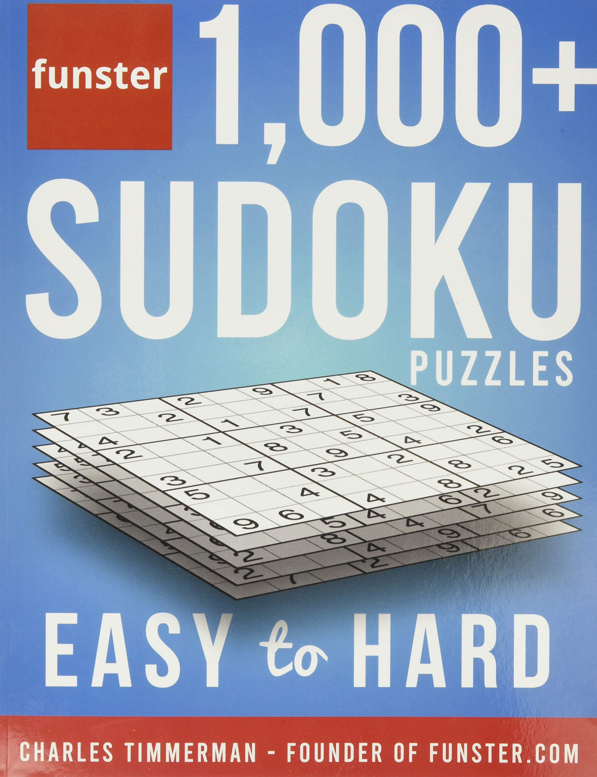 Funster 1,000+ Sudoku Puzzles Easy to Hard: Sudoku puzzle guide for adults