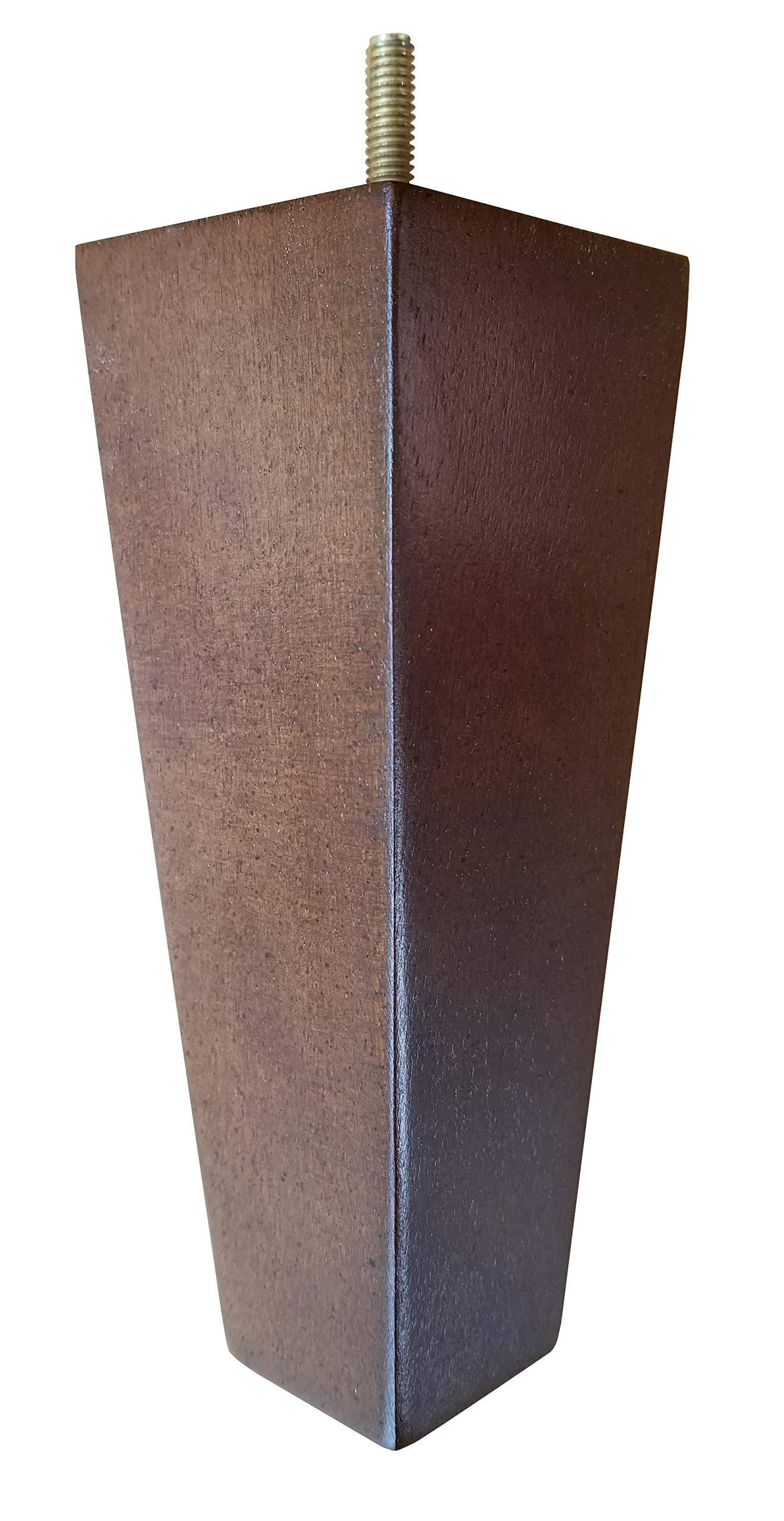 Design 59 inc- Tapered Sofa Legs, Wood, American Walnut Finish - Set of 4