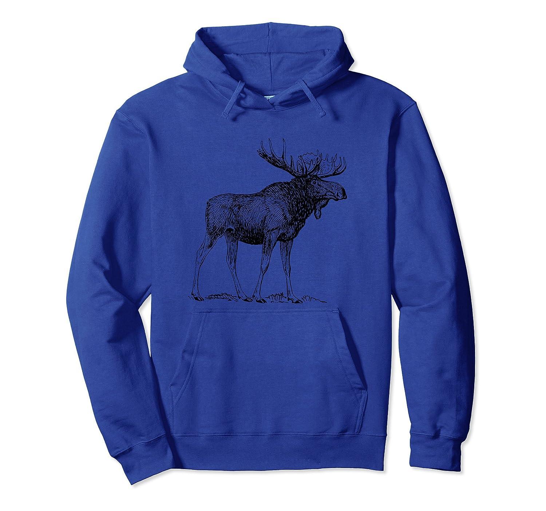 Vintage Moose Pullover Hoodie-alottee gift