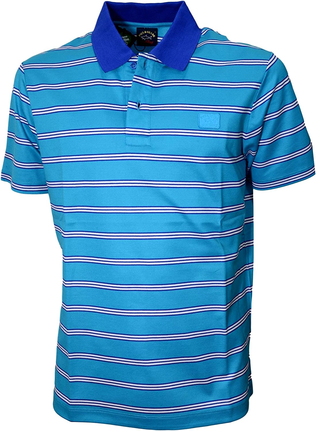 PAUL SHARK Yachting Polo hombre E20P1290 rayas algodón pique doble MERCERIZED: Amazon.es: Ropa y accesorios
