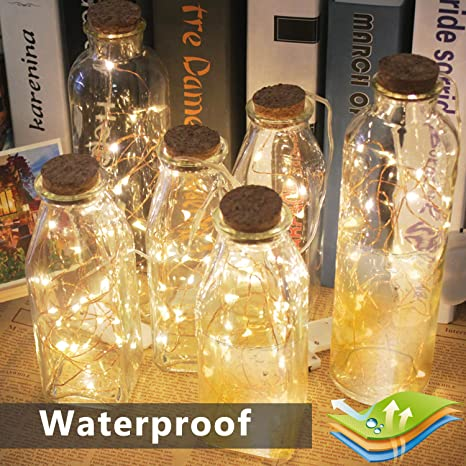 Luces de Botella,Emooqi 12Pcs Corcho Botella Luces Luz de Botella Luces de la Botella de Vino a Batería para la Decoración de la Habitación del Hogar de la ...