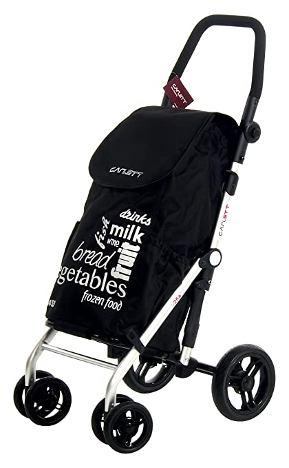 Amazon.com: CARLETT Beauty Shopping Trolley, Aluminum, Black, 62 x 19 x 29 cm: Kitchen & Dining