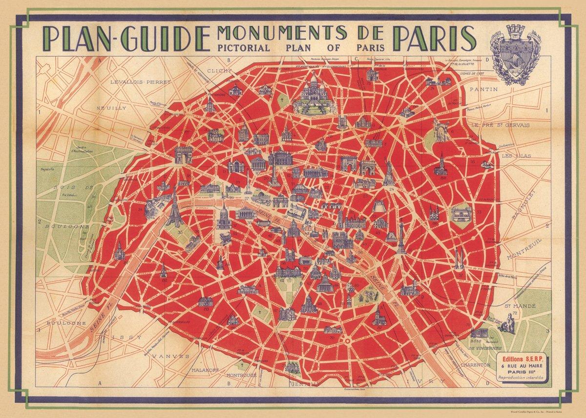 Amazon.com: Cavallini & Co. Monumentos de París cartel ...