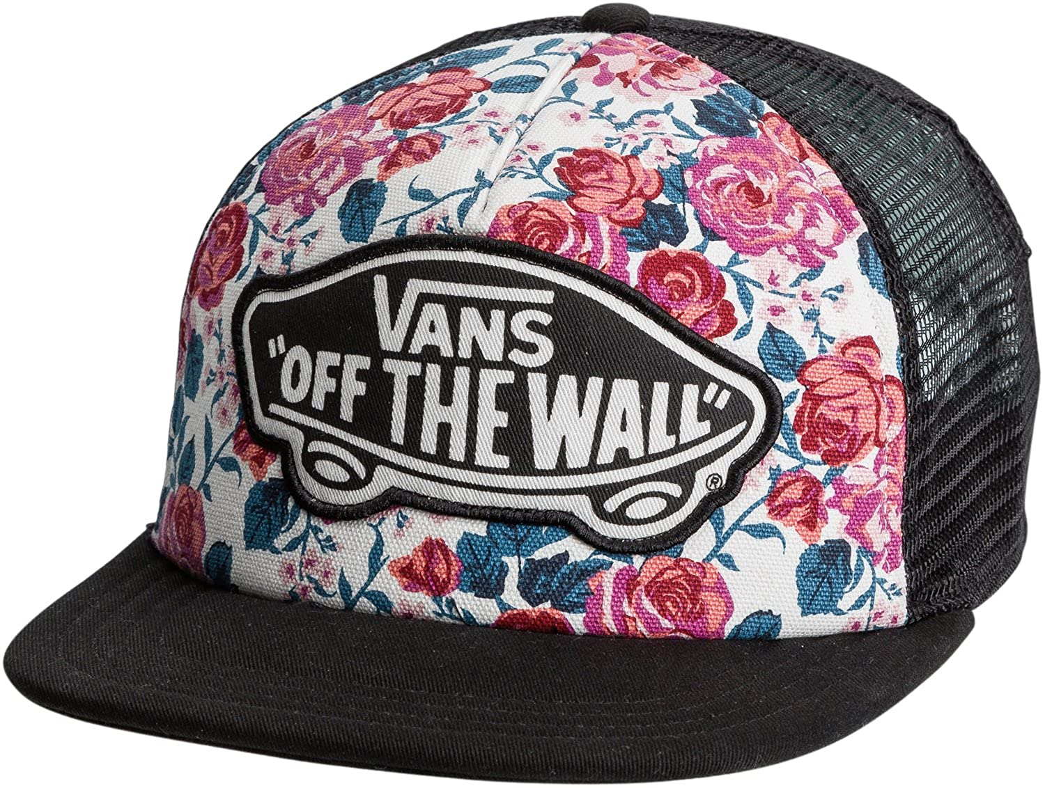 54e116894b76cf Amazon.com  Vans Leila Trucker Hat Hana Floral Baseball Caps  Clothing