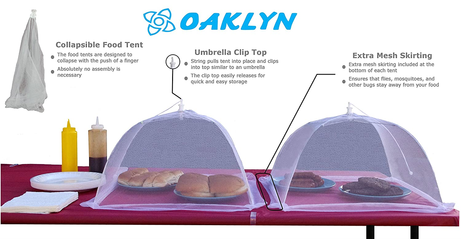 Amazon.com (4pk) 16 inch Collapsible Mesh Food Cover Tent Umbrella Set with Storage Bag - Reusable Covers Protect from Flies and Bugs - Best Net Protector ...  sc 1 st  Amazon.com & Amazon.com: (4pk) 16 inch Collapsible Mesh Food Cover Tent ...