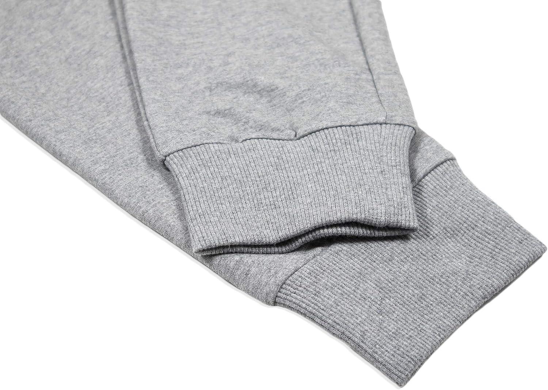 Saahus Mens Workout Slim Fit Joggers Sweatpants Athletic Pants with Zipper Pockets