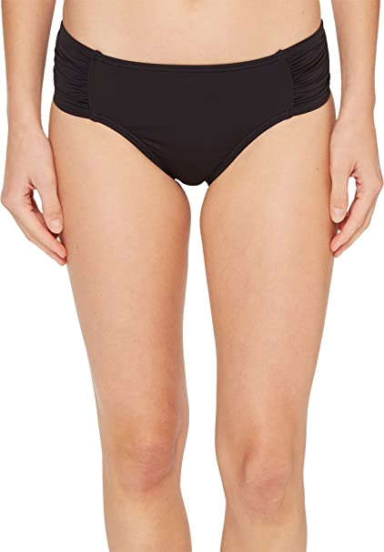 5579113804 Tommy Bahama Women s Pearl High-Waist Side-Shirred Bikini Bottom Black Swimsuit  Bottoms