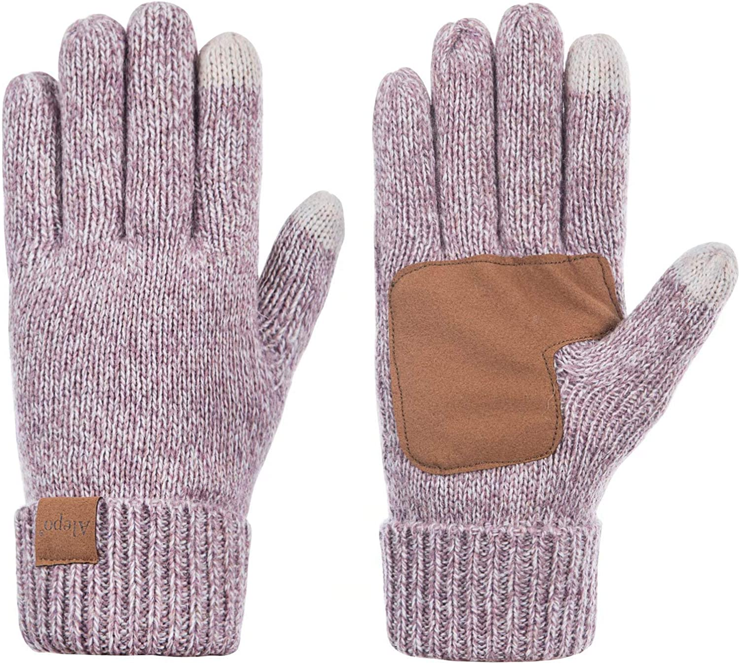 Anti-Slip Knit Touchscreen Cuff Warm Unisex Driving Gloves With Thick Fleece Lining Winter Wool Gloves For Women And Men