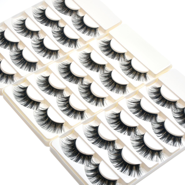 Wleec Beauty Dramatic Eyelashes Set Long Strip Lashes Handmade False Eyelash Pack #27/L (15 Pairs/3 Pack) Ltd.
