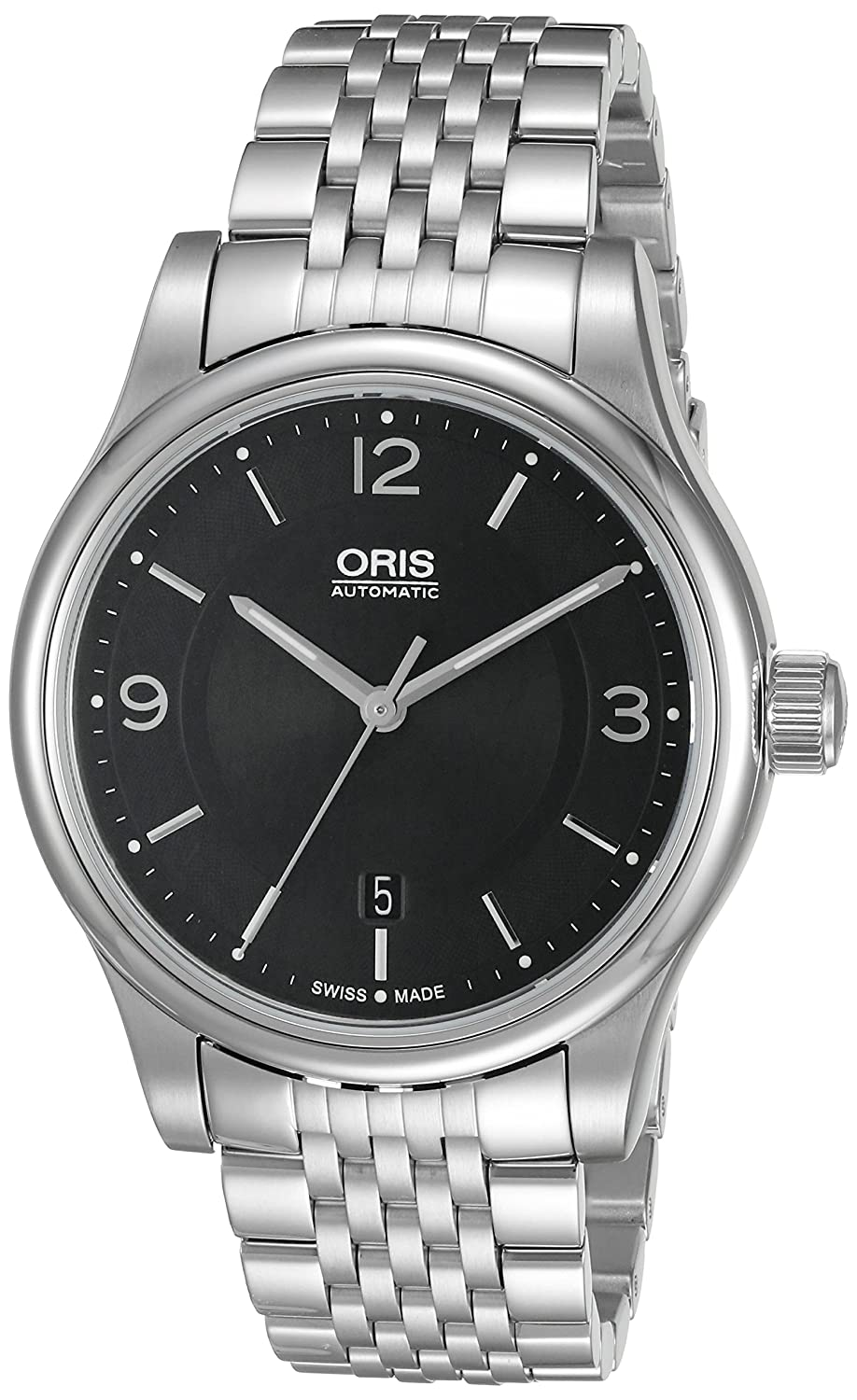 Oris Men s 73375944034MB Classic Analog Display Swiss Automatic Black Watch