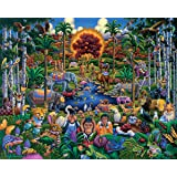 Dowdle Folk Art Animals of Eden 100 Piece Jigsaw Puzzle