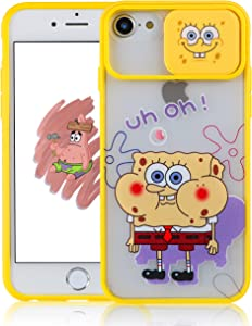Coralogo Push Sponge Case for iPhone 6/6S/7/8/SE 2020 Cartoon Funny Kawaii Cute Hard TPU Cover Stylish Fidget Unique Design Aesthetic for Girls Boys Kids Cases(for iPhone 6/6S/7/8/SE 2020 4.7