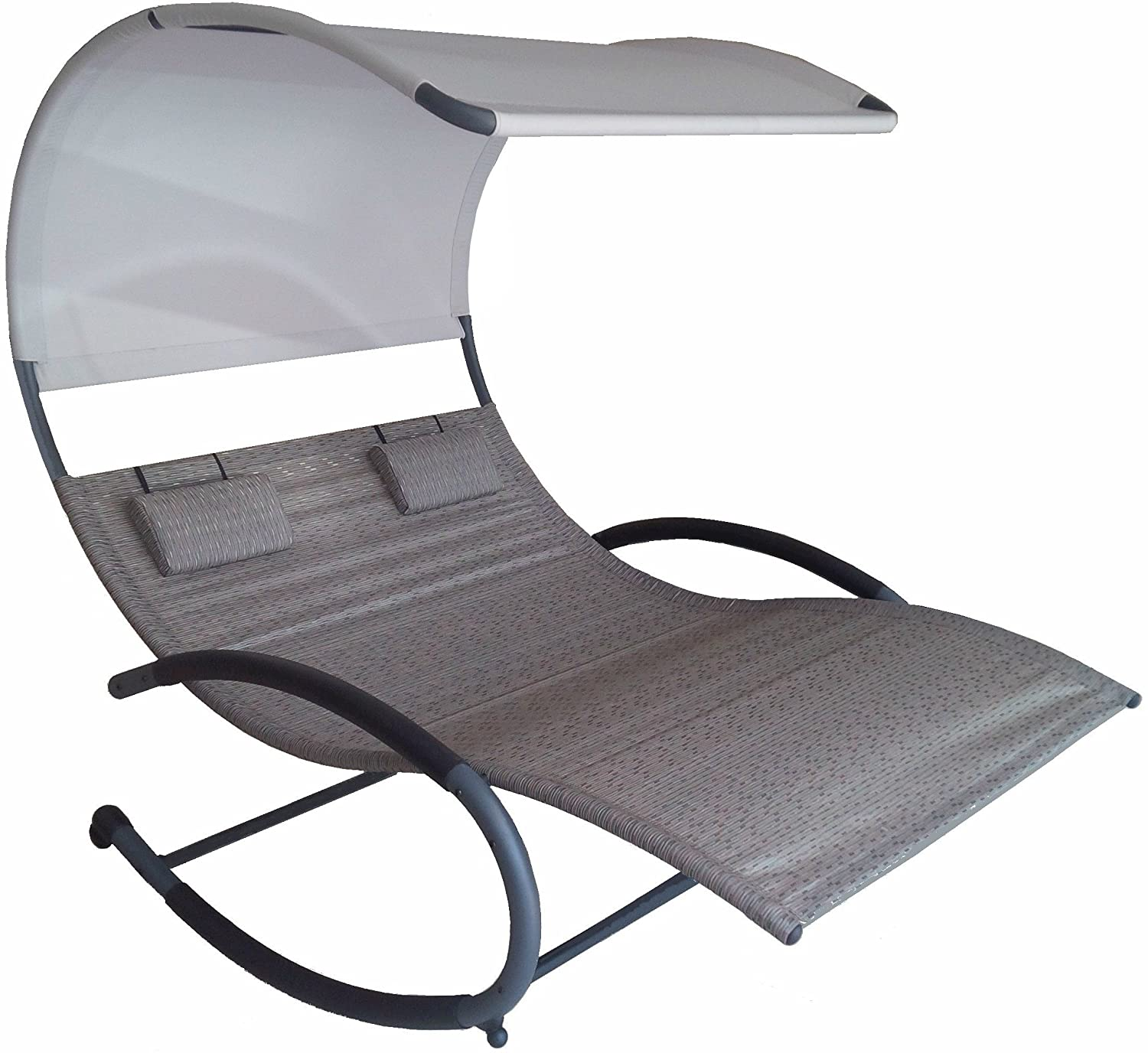 sc 1 st  Amazon.com & Amazon.com : Vivere Double Chaise Rocker Sienna : Garden u0026 Outdoor