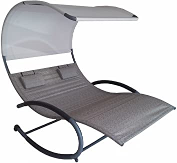 Vivere Double Chaise Rocker Sienna  sc 1 st  Amazon.com : double chaise - Sectionals, Sofas & Couches