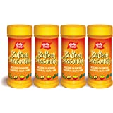 JOLLY TIME Popcorn Seasoning Salt Movie Theater Butter Powder Shaker for Concession & Cooking, Butter, 6 oz (Pack of 4)