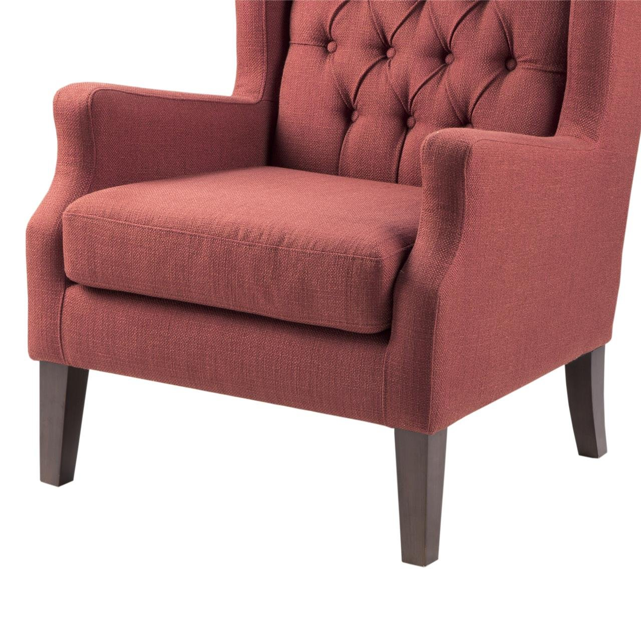 Narrow Armchair Amazoncom Button Tufted Wing Chair Red Maxwell Kitchen Dining
