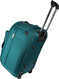 Safari Polyester Stylish Blue Color Rolling Wheel Duffel Travel Bag ... 23c7ca873d87c