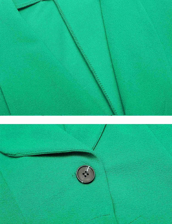 S einfarbiger Slim Fit Revers Business Trenchcoat Kurz Mantel mit Gr leichte und d/ünne Bolero Gesch/äft B/üro Jacke Unibelle Damen Blazer Elegant Damenjacke Cardigan 3//4 l/ängere 2XL