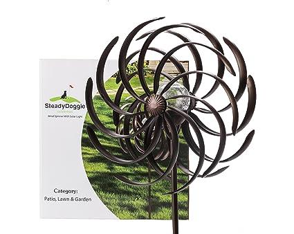 Amazon.com : Solar Wind Spinner Multi-Color Seasonal LED Lighting ...