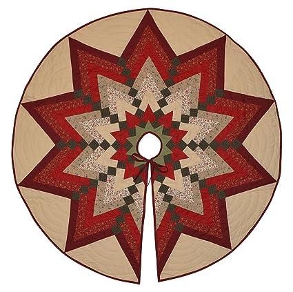 Christmas Tree Skirt Pattern.Star Burst Quilted Patchwork Christmas Tree Skirt 44