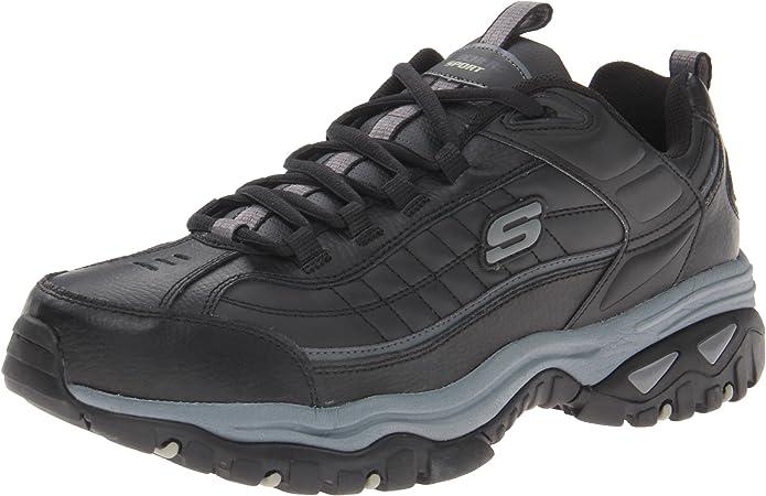 Skechers Sport Men's Energy Afterburn Lace Up Sneaker,BlackBlack,10 M US