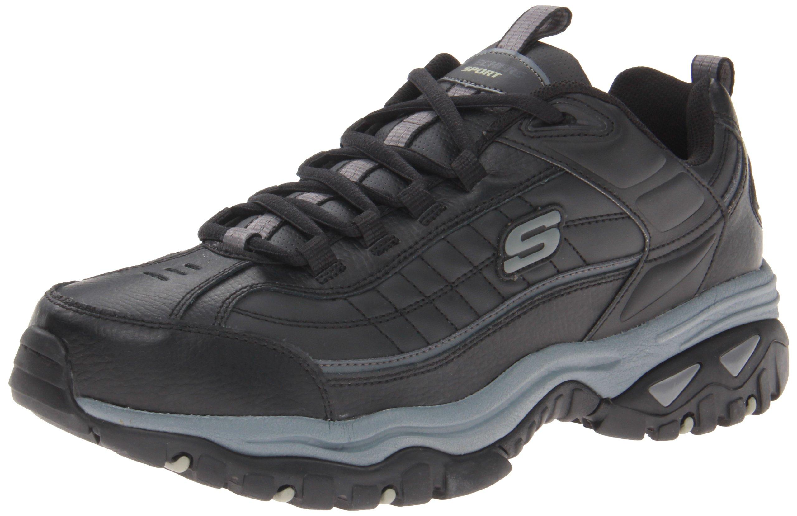Skechers Sport Men's Energy Afterburn Lace-Up Sneaker,Black/Gray,8.5 XW US by Skechers