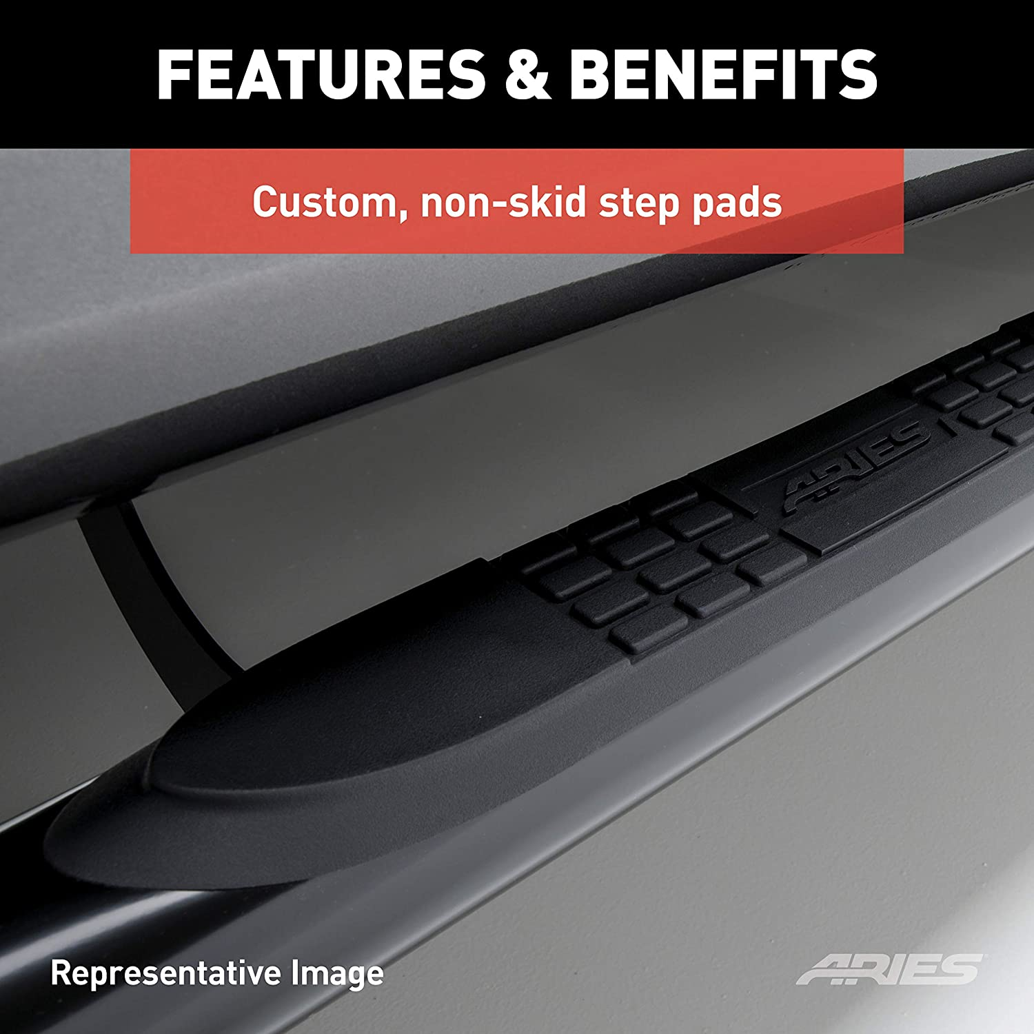 Aries Automotive 202008-2 Stainless Steel Side 3-Inch Step Bar