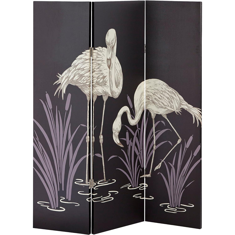 Arthouse Rooom Divider, Screen, Canvas Panels, Polyester, Black, 150 x 120 x 2.5 cm 008239