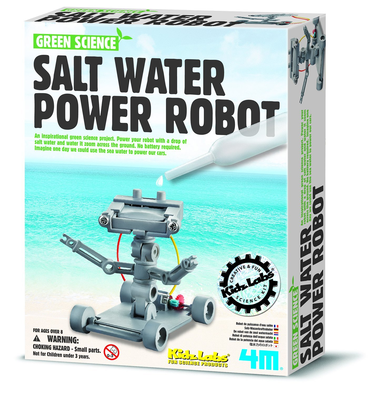 Amazon 4M Salt Water Powered Robot Kit Toys & Games