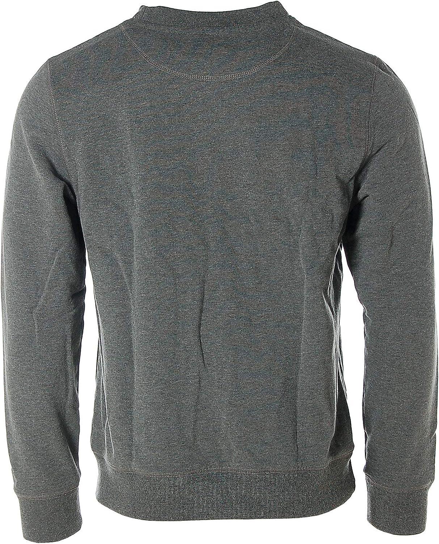 St. Moritz Herren Sweatshirt Sweater Pullover Rundhals Light Anthra Melange