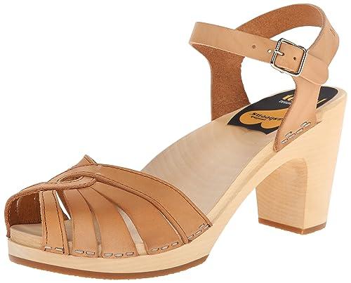 Swedish Hasbeens Frederica, Women's Heels Sandals, Beige (Nature)