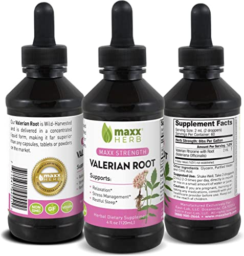 Maxx Herb Valerian Root Liquid Extract 4 Oz Bottle