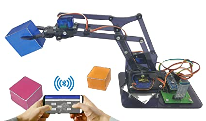 Buy ARDUINO Bluetooth Controlled 4 Axis Robotic Arm with Plastic