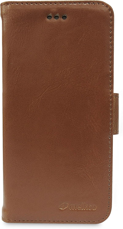 Melkco - Mini PU Wallet Book Type Case for Apple iPhone 6 Plus - Retail Packaging - Brown - APIPL6LCDW7BNPU