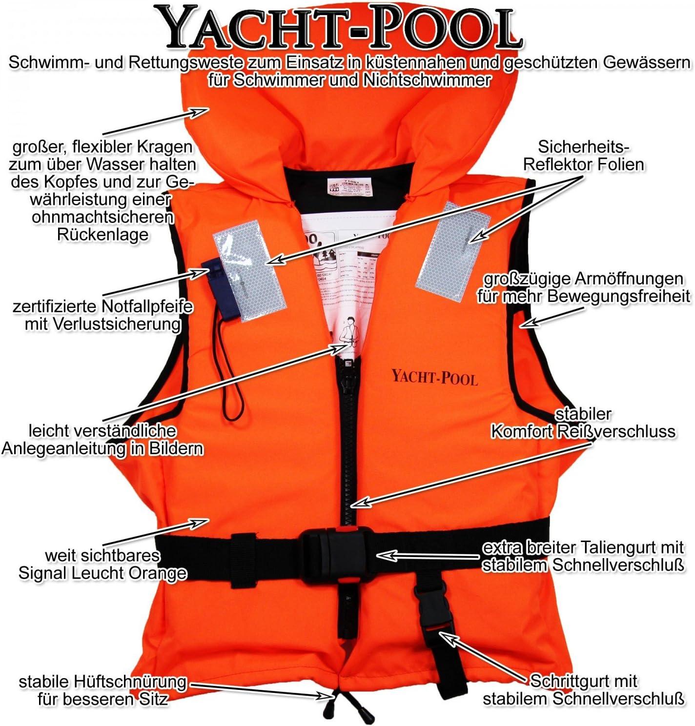 Rettungsweste 15-30kg Schwimmweste ISO 12402-4 Feststoffweste 100 Newton