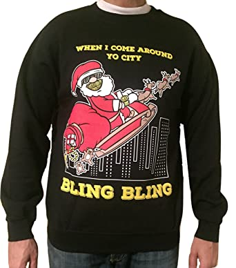 bling bling ugly christmas sweaters small