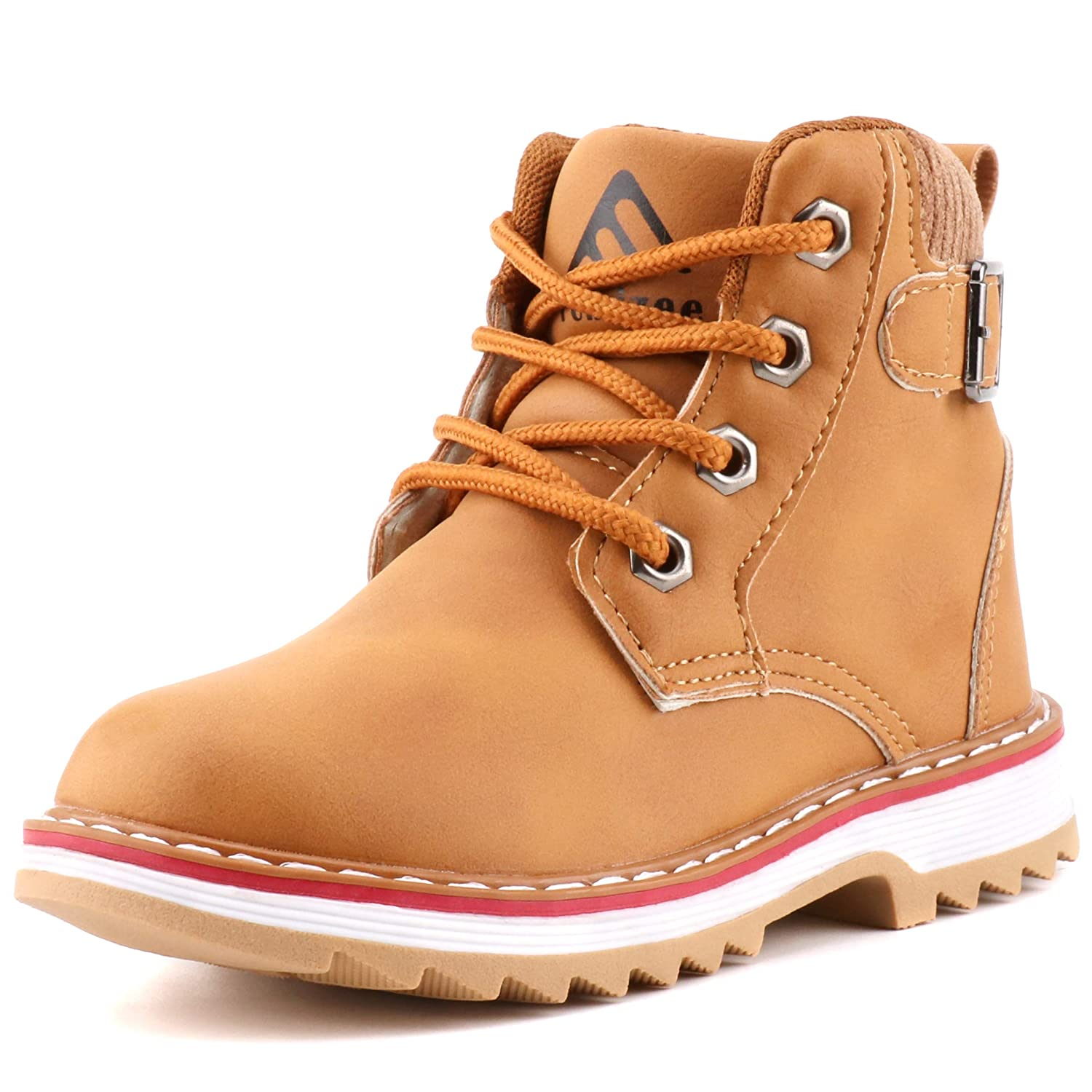 741bc00e062 Femizee Boys Lace Up Work Boots Classic Waterproof Hiking Booties for  Kids(Toddler/Little Kid)