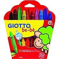 Giotto be-bè 466800 - Estuche 10 súper ceras irrompibles de colores y sacapuntas