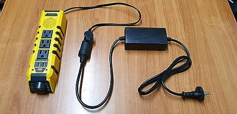 Transformador de Corriente y hercios Cambia de 220V y 50 HZ a 110V y 60HZ para Usar en España Equipos Americanos de 110 voltios hasta 120W, Especial para Usar maquinas de peluqueros: