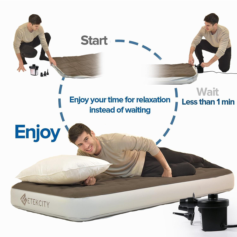 amazon com etekcity air pump air mattress pump for inflatable blow