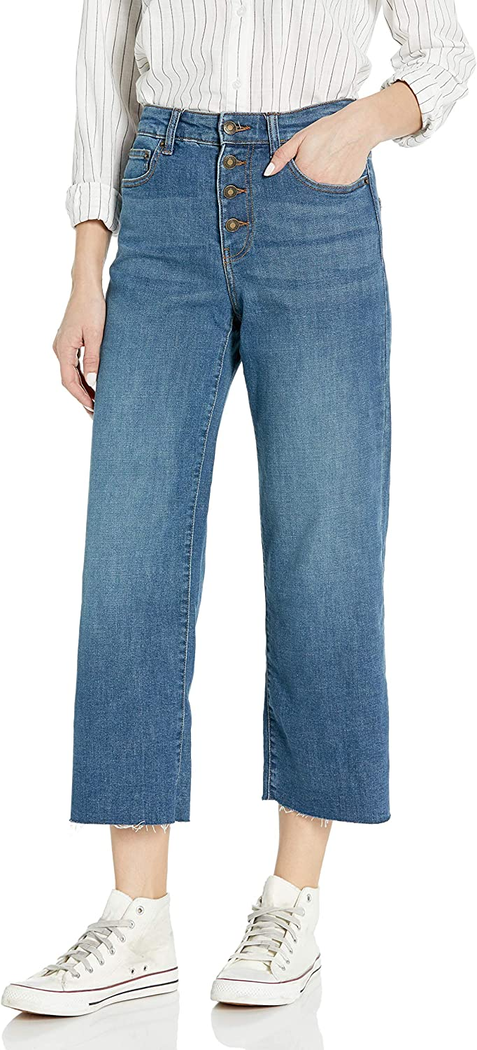 Amazon Brand - Goodthreads Women's High-Rise Wide Leg Cropped Jean